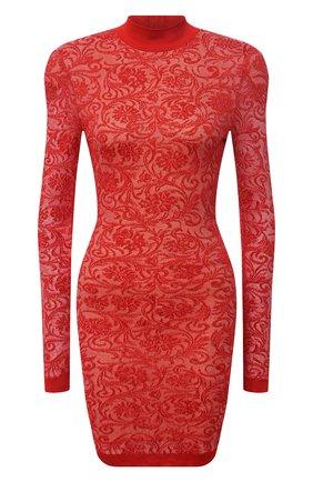 Женское платье из вискозы BALMAIN красного цвета, арт. UF16232/K129 | Фото 1