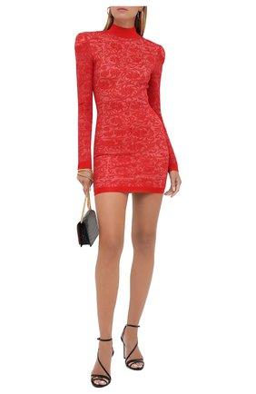 Женское платье из вискозы BALMAIN красного цвета, арт. UF16232/K129 | Фото 2