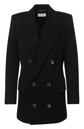 Женское шерстяной жакет SAINT LAURENT черного цвета, арт. 630434/Y3A43 | Фото 1