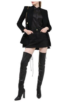 Женское шерстяной жакет SAINT LAURENT черного цвета, арт. 630434/Y3A43 | Фото 2