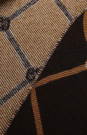 Мужские шерстяной шарф sonet GUCCI коричневого цвета, арт. 630769/3G200 | Фото 2