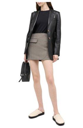 Женская кожаный жакет GUCCI черного цвета, арт. 629201/XN336 | Фото 2