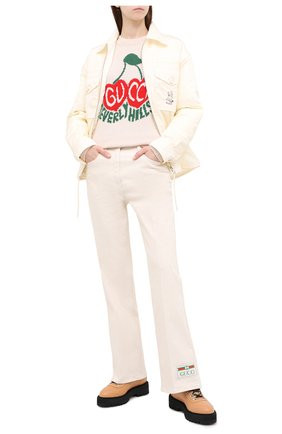 Женская шерстяной свитер GUCCI белого цвета, арт. 629127/XKBHI | Фото 2