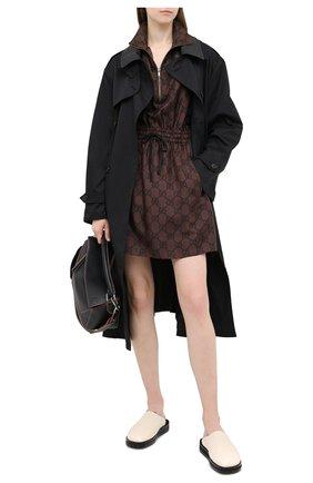 Женское шелковое платье GUCCI коричневого цвета, арт. 628781/XJCL5 | Фото 2