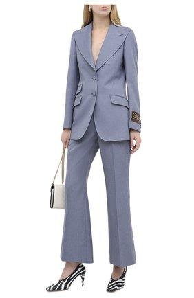Женские брюки GUCCI синего цвета, арт. 627868/Z798C | Фото 2