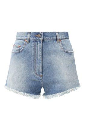 Женские джинсовые шорты GUCCI голубого цвета, арт. 502779/XDBAC | Фото 1