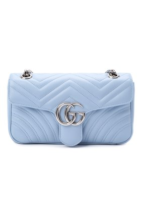 Женская сумка gg marmont small GUCCI голубого цвета, арт. 443497/DTDIY | Фото 1