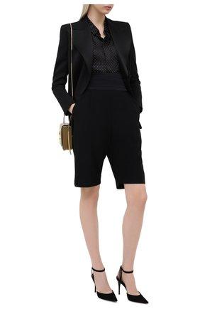 Женская замшевые туфли lexi SAINT LAURENT черного цвета, арт. 630698/C2000 | Фото 2