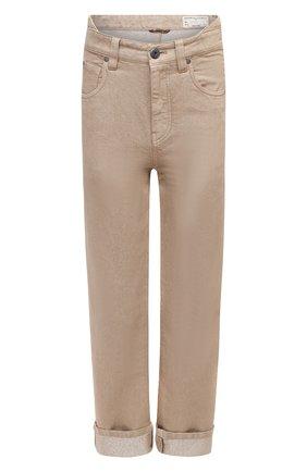 Женские джинсы BRUNELLO CUCINELLI бежевого цвета, арт. MA176P5611 | Фото 1