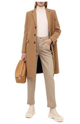 Женские джинсы BRUNELLO CUCINELLI бежевого цвета, арт. MA176P5611 | Фото 2