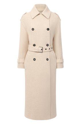 Женское кашемировое пальто BRUNELLO CUCINELLI белого цвета, арт. MB5859262 | Фото 1