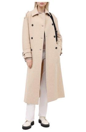 Женское кашемировое пальто BRUNELLO CUCINELLI белого цвета, арт. MB5859262 | Фото 2