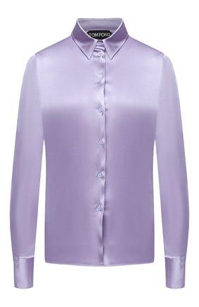 Женская шелковая блузка TOM FORD сиреневого цвета, арт. CA3100-FAX334 | Фото 1
