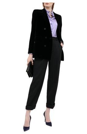 Женская шелковая блузка TOM FORD сиреневого цвета, арт. CA3100-FAX334 | Фото 2