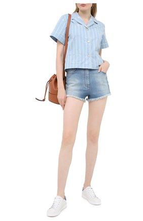 Женские кожаные кеды new ace GUCCI белого цвета, арт. 602684/AY070 | Фото 2