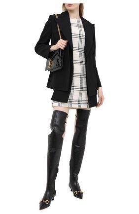 Женские кожаные ботфорты deva GUCCI черного цвета, арт. 621271/BK000 | Фото 2