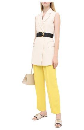 Женские кожаные шлепанцы jolie GUCCI белого цвета, арт. 629730/BK060 | Фото 2