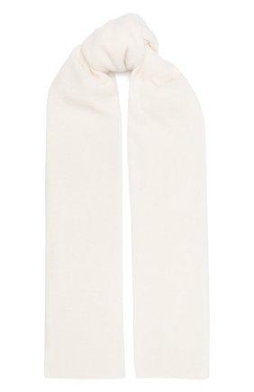 Мужские шерстяной шарф ALLUDE белого цвета, арт. 205/11241 | Фото 1