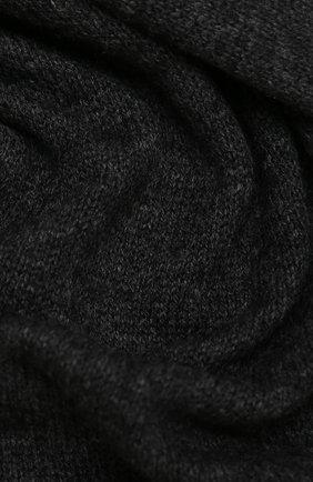 Мужские шерстяной шарф ALLUDE темно-серого цвета, арт. 205/11241 | Фото 2
