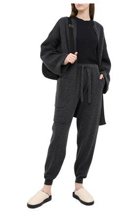 Женские джоггеры из шерсти и кашемира ALLUDE темно-серого цвета, арт. 205/17003 | Фото 2