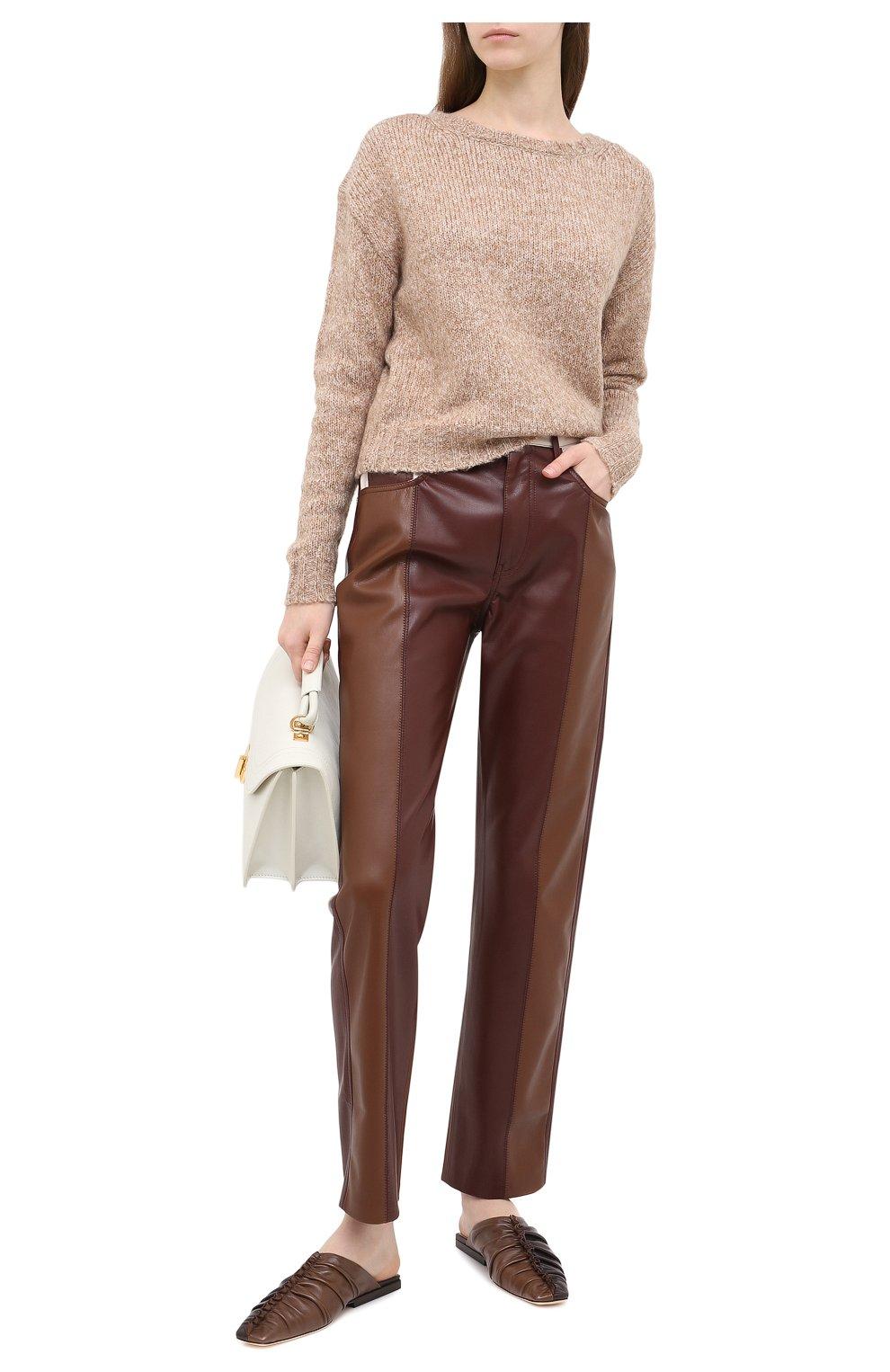 Женский свитер ALLUDE коричневого цвета, арт. 205/62003 | Фото 2 (Женское Кросс-КТ: Свитер-одежда; Рукава: Длинные; Материал внешний: Синтетический материал; Длина (для топов): Стандартные)