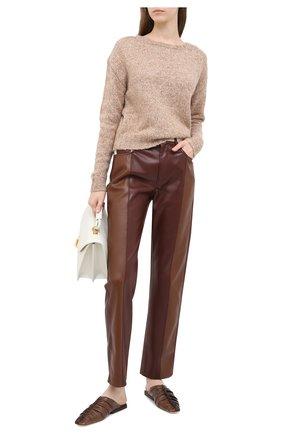 Женская свитер ALLUDE коричневого цвета, арт. 205/62003 | Фото 2