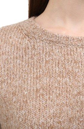 Женский свитер ALLUDE коричневого цвета, арт. 205/62003 | Фото 5 (Женское Кросс-КТ: Свитер-одежда; Рукава: Длинные; Материал внешний: Синтетический материал; Длина (для топов): Стандартные)