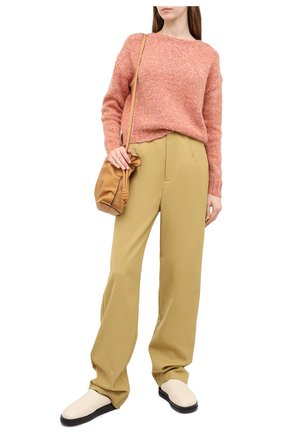 Женский свитер ALLUDE оранжевого цвета, арт. 205/62003 | Фото 2