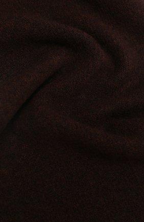 Женский шарф ALLUDE темно-коричневого цвета, арт. 205/65031 | Фото 2