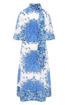 Женское шелковое платье VALENTINO голубого цвета, арт. UB3VATI55T5   Фото 1