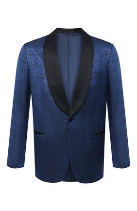 Мужской пиджак из шерсти и шелка ZILLI синего цвета, арт. MNU-L7110-18547/0001 | Фото 1