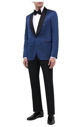Мужской пиджак из шерсти и шелка ZILLI синего цвета, арт. MNU-L7110-18547/0001 | Фото 2