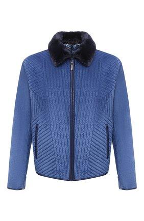 Мужская замшевая куртка ZILLI синего цвета, арт. MAU-IDE00-01003/1001 | Фото 1