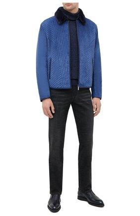 Мужская замшевая куртка ZILLI синего цвета, арт. MAU-IDE00-01003/1001 | Фото 2