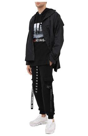 Мужской хлопковое худи DIEGO VENTURINO черного цвета, арт. FW20-DV FLH MAC | Фото 2