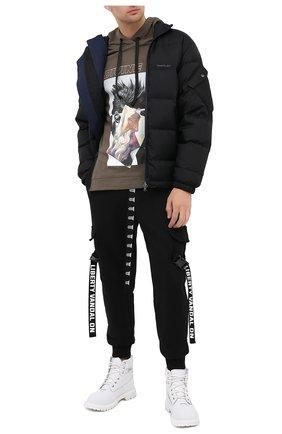 Мужской хлопковое худи DIEGO VENTURINO хаки цвета, арт. FW20-DV FLH ZDP | Фото 2