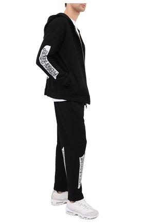 Мужская хлопковая толстовка DIEGO VENTURINO черного цвета, арт. FW20-DV FLZ LSCG | Фото 2