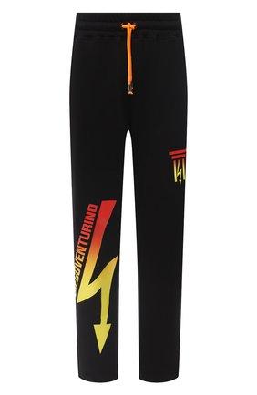 Мужские хлопковые брюки DIEGO VENTURINO черного цвета, арт. FW20-DV PNT LDEL | Фото 1