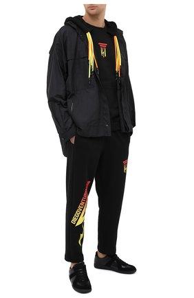 Мужские хлопковые брюки DIEGO VENTURINO черного цвета, арт. FW20-DV PNT LDEL | Фото 2