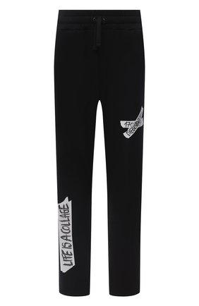 Мужской хлопковые брюки DIEGO VENTURINO черного цвета, арт. FW20-DV PNT LLSCG | Фото 1