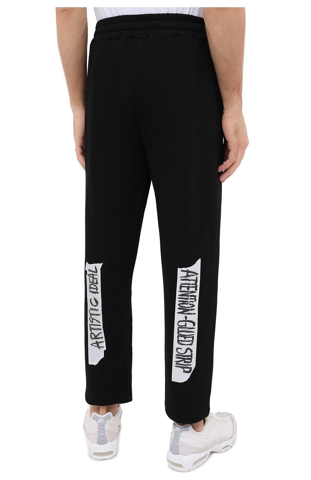 Мужские хлопковые брюки DIEGO VENTURINO черного цвета, арт. FW20-DV PNT LLSCG | Фото 4