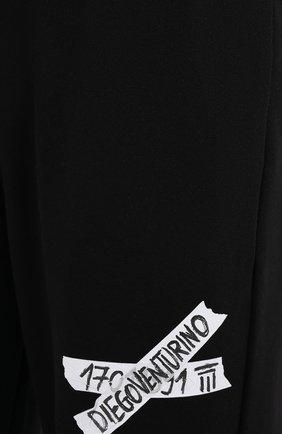 Мужские хлопковые брюки DIEGO VENTURINO черного цвета, арт. FW20-DV PNT LLSCG | Фото 5