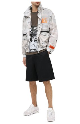 Мужская хлопковая футболка DIEGO VENTURINO хаки цвета, арт. FW20-DV TS ACM | Фото 2