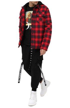 Мужская хлопковая футболка DIEGO VENTURINO черного цвета, арт. FW20-DV TS DAC   Фото 2