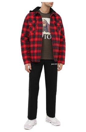 Мужская хлопковая футболка DIEGO VENTURINO хаки цвета, арт. FW20-DV TS DAC   Фото 2