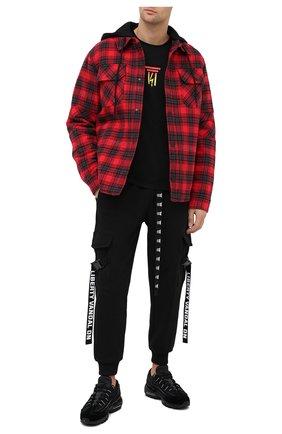 Мужская хлопковая футболка DIEGO VENTURINO черного цвета, арт. FW20-DV TS DEL | Фото 2