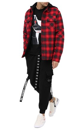 Мужская хлопковая футболка DIEGO VENTURINO черного цвета, арт. FW20-DV TS DSC   Фото 2