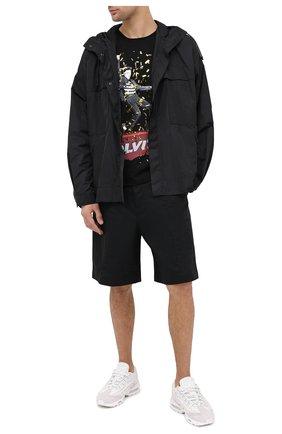 Мужская хлопковая футболка DIEGO VENTURINO черного цвета, арт. FW20-DV TS EAC   Фото 2