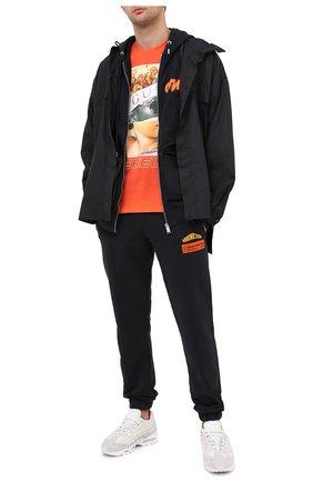 Мужская хлопковая футболка DIEGO VENTURINO оранжевого цвета, арт. FW20-DV TS IRP   Фото 2