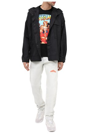 Мужская хлопковая футболка DIEGO VENTURINO черного цвета, арт. FW20-DV TS LBC | Фото 2